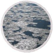 Frozen River Round Beach Towel