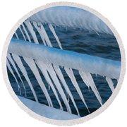 Frozen Stiff Round Beach Towel
