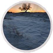 Frozen Tree Of Wisdom Round Beach Towel