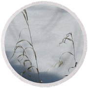 Frozen Wheat Round Beach Towel
