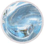 Frozen Yang  Round Beach Towel