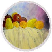 Fruit Round Beach Towel