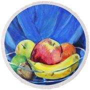 Fruit Bowl Round Beach Towel