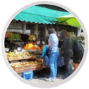 Fruit For Sale Hoboken Nj Round Beach Towel