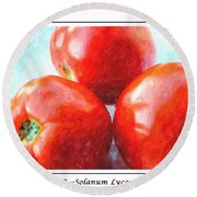 Fruit Of The Vine - Tomato - Vegetable Round Beach Towel
