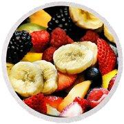 Fruit Salad Round Beach Towel