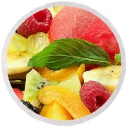 Fruit Salad Round Beach Towel