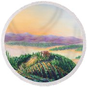 Fruitful And Prosperous Round Beach Towel