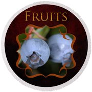 Fruits Gallery Round Beach Towel