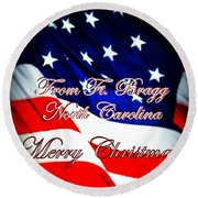 Ft. Bragg - Christmas Round Beach Towel