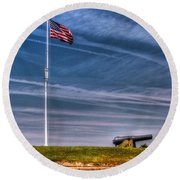 Ft Macon  Round Beach Towel