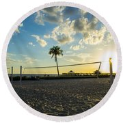 Ft. Myers Volleyball Round Beach Towel