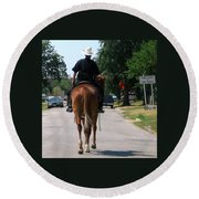 Ft Worth Texas Police Round Beach Towel