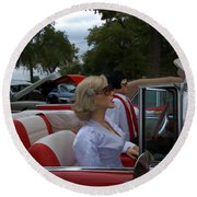Fuel Injection Cadillac Round Beach Towel