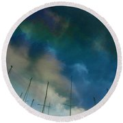 Fuel Sky Round Beach Towel