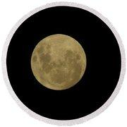 Full Moon 12.27.12 Round Beach Towel