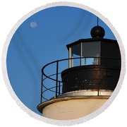 Full Moon At Piney Point Round Beach Towel