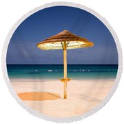 Full Moon Beach Hut Round Beach Towel