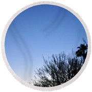 Full Moon Faded Round Beach Towel