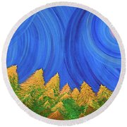 Full Moon Forest By Jrr Round Beach Towel