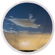 Full Moon Light Round Beach Towel