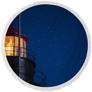 Full Moon On Quoddy No 2 Round Beach Towel