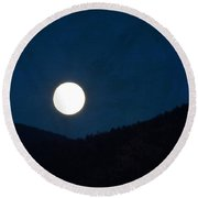 Full Moon Tonight Round Beach Towel