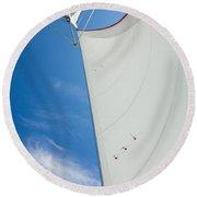 Full Sails Round Beach Towel