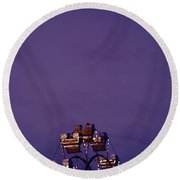 Fun At Dusk Round Beach Towel