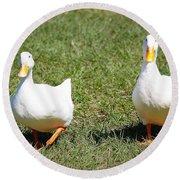 Fun Ducks Round Beach Towel