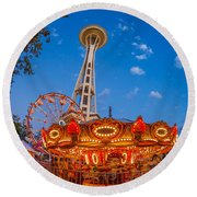 Fun Forest Now That Looks Fun Round Beach Towel