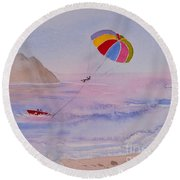 Fun In Mexico Round Beach Towel