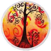Fun Tree Of Life Impression Vi Round Beach Towel