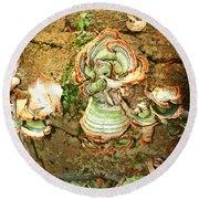 Fungus Among Us Round Beach Towel