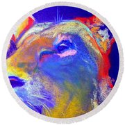 Funky Lioness Jungle Queen Round Beach Towel