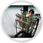 Funky Ride Round Beach Towel