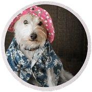 Funny Doggie Round Beach Towel