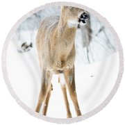 Funny Stance Round Beach Towel