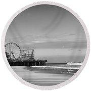 Funtown Pier Seaside Heights New Jersey  Round Beach Towel
