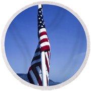 Furled Flag Round Beach Towel