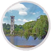 Furman Tree And Tower Round Beach Towel
