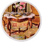 Furniture - Chair - The Tea Party Round Beach Towel