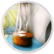 Furniture - Lamp - In The Window  Round Beach Towel