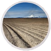 Furrows Round Beach Towel
