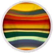 Fury Sea 2 Round Beach Towel by Amy Vangsgard