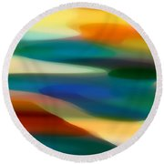 Fury Seascape 1 Round Beach Towel by Amy Vangsgard