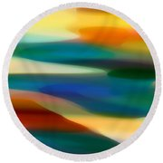 Fury Seascape 3 Round Beach Towel by Amy Vangsgard