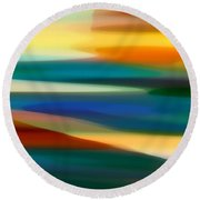 Fury Seascape 7 Round Beach Towel by Amy Vangsgard