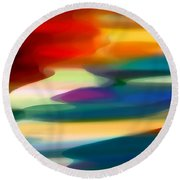 Fury Seascape Round Beach Towel by Amy Vangsgard