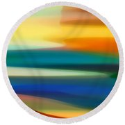 Fury Seascape II Round Beach Towel by Amy Vangsgard